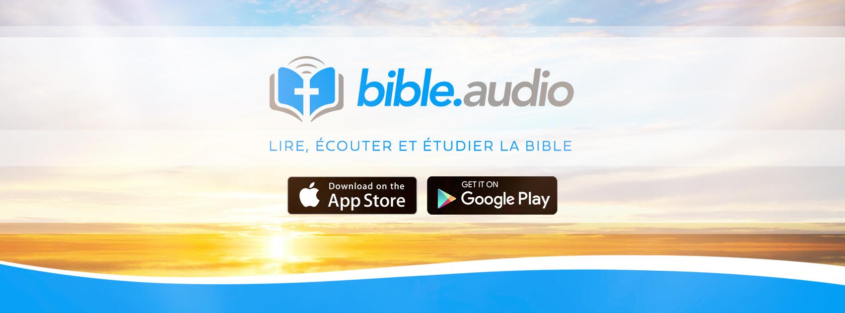 Bienvenue sur Bible.Audio